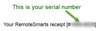 Your serial number
